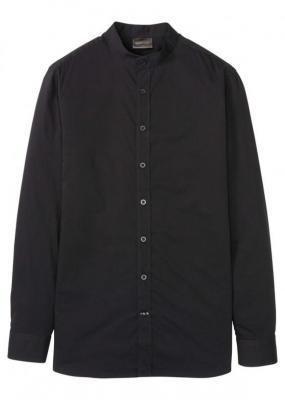 Koszula garniturowa ze stójką, Slim Fit bonprix czarny