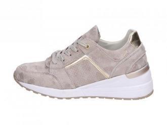 Złote sneakersy damskie FILIPPO DP2003 SKÓRA