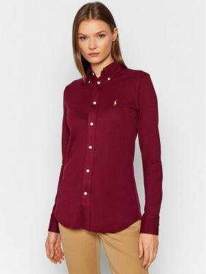 Polo Ralph Lauren Koszula Lsl 211664427028 Bordowy Slim Fit