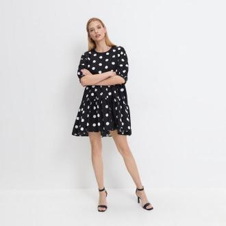 Mohito - Sukienka w grochy - Czarny