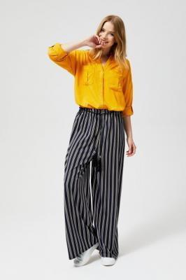Szerokie spodnie z paskiem