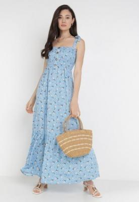 Niebieska Sukienka Amanoire
