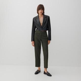 Reserved - Eleganckie spodnie z kantem - Khaki