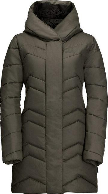 Jack Wolfskin Kyoto Coat Women, oliwkowy XS 2021 Kurtki zimowe i kurtki parki