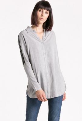 Koszulowa bluzka z lampasem
