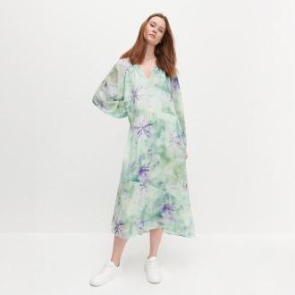 Reserved - Wzorzysta sukienka maxi - Wielobarwny