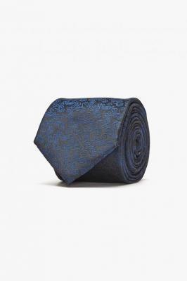 Klasyczny czarny krawat Recman PAISLEY 200