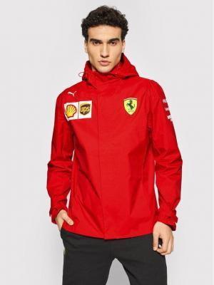 Puma Kurtka przeciwdeszczowa Ferrari Team 763030 Czerwony Regular Fit