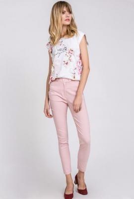 Materiałowe spodnie damskie