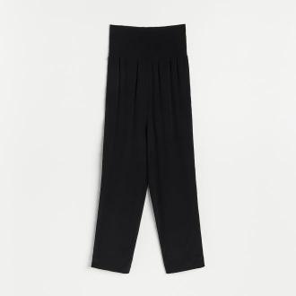 Reserved - Spodnie z EcoVero™ - Czarny