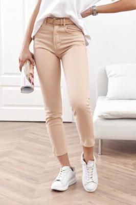 Spodnie jeansowe mom fit brzoskwiniowe RR2032