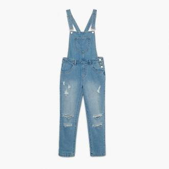 Cropp - Jeansowe ogrodniczki - Niebieski
