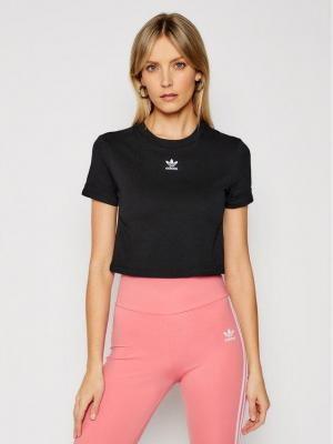 adidas T-Shirt Crop Top GN2802 Czarny Regular Fit