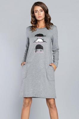Italian Fashion Dima dł.r. Nocna koszula, średni melanż