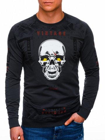 Bluza męska bez kaptura 1288B - grafitowa - M