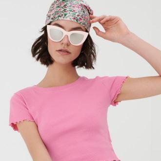 Sinsay - Okulary przeciwsłoneczne - Różowy