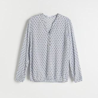 Reserved - Bluzka z EcoVero™ - Kremowy