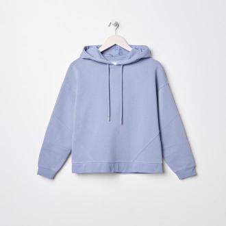Sinsay - Bluza z kapturem - Niebieski