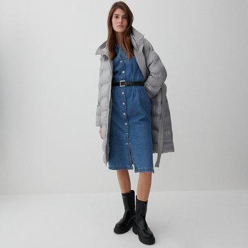 Reserved - Pikowany płaszcz - Jasny szary
