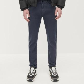 Reserved - Spodnie skinny z bawełny organicznej - Granatowy