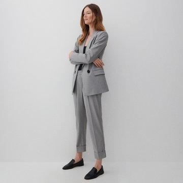 Reserved - Spodnie z kantem - Jasny szary