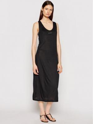 Calvin Klein Swimwear Sukienka plażowa KW0KW01355 Czarny Regular Fit