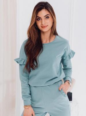 Bluza damska bez kaptura 006TLR - błękitna - XS/S