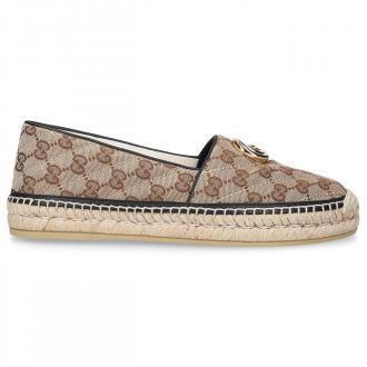 Gucci Espadryle T.ORIINAL płótno Logo beż
