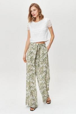 Wzorzyste spodnie o luźnym fasonie
