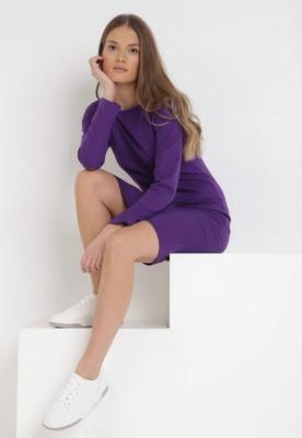 Fioletowa Sukienka Sanya