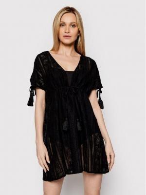 Iconique Sukienka plażowa Molly IC21 018 Czarny Regular Fit