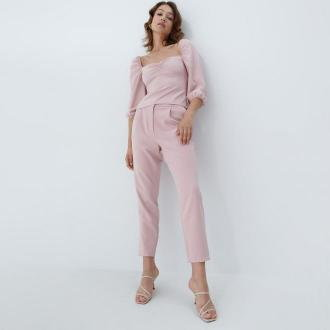 Mohito - Spodnie cygaretki - Różowy