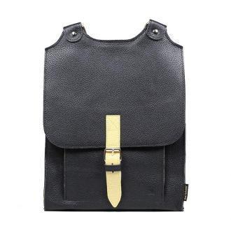 plecak skórzany Bookpack czarno-żółty