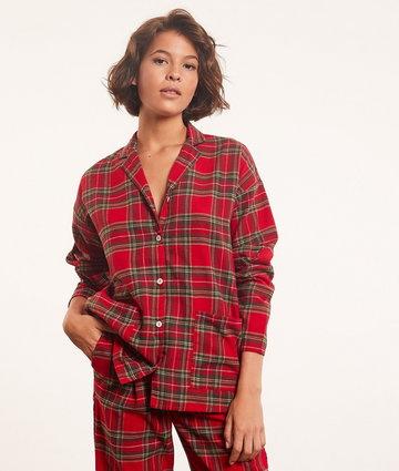 Tam Chemise De Pyjama À Carreaux - Czerwony - Etam
