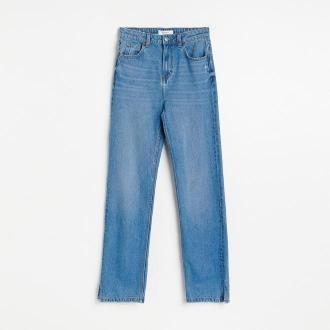 Reserved - Jeansy Straight - Niebieski