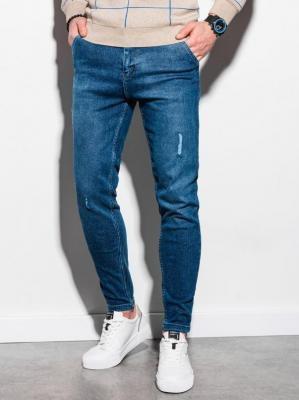 Spodnie męskie jeansowe P953 - niebieskie - XXL