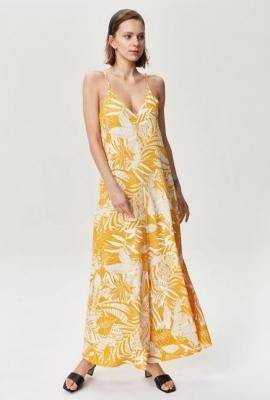 Długa plażowa sukienka