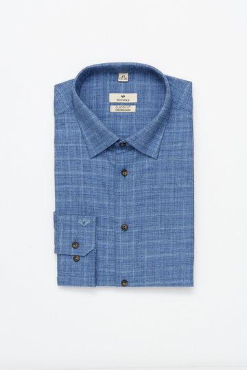 Niebieska koszula w rozmytą kratę Winman WINBERG F2965 custom fit