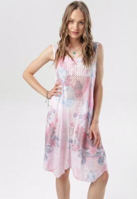 Jasnoróżowa Sukienka Jashanna