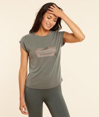 Aaron T-Shirt Z Krótkimi Rękawami - Khaki - Etam
