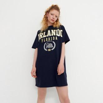 House - T-shirtowa sukienka z nadrukiem - Granatowy