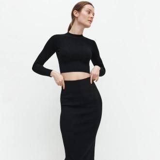 Reserved - Krótki sweter - Czarny