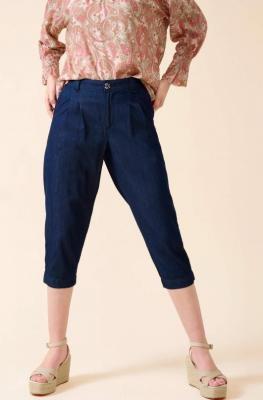Bawełniane spodnie capri