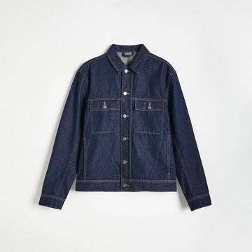 Reserved - Jeansowa kurtka z kieszeniami - Niebieski
