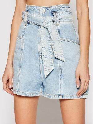 Tommy Jeans Szorty jeansowe New Paperbag Mom DW0DW10092 Niebieski Relaxed Fit