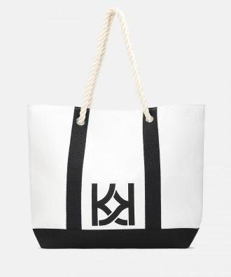 Biało czarna torebka damska
