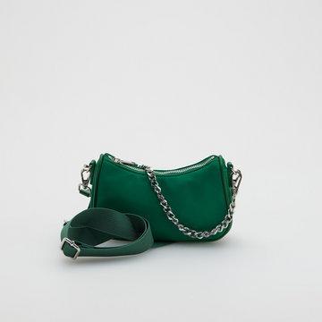 Reserved - Torebka z odpinanym łańcuszkiem - Zielony