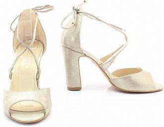 Taneczne sandałki ślubne - KOTYL 5901 - ZŁOTE