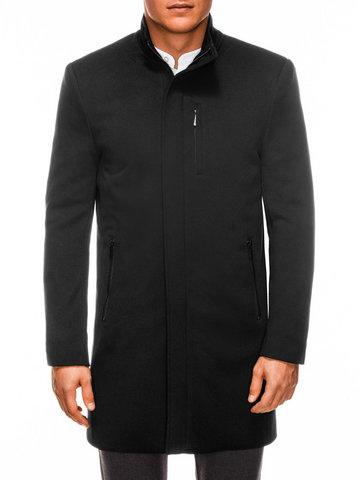Płaszcz męski jesienny C430 - czarny - S