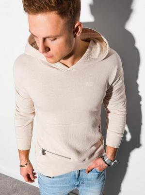 Bluza męska z kapturem B1188 - biała - XXL